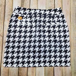 Loudmouth Ladie Houndstooth Black White Golf Skort